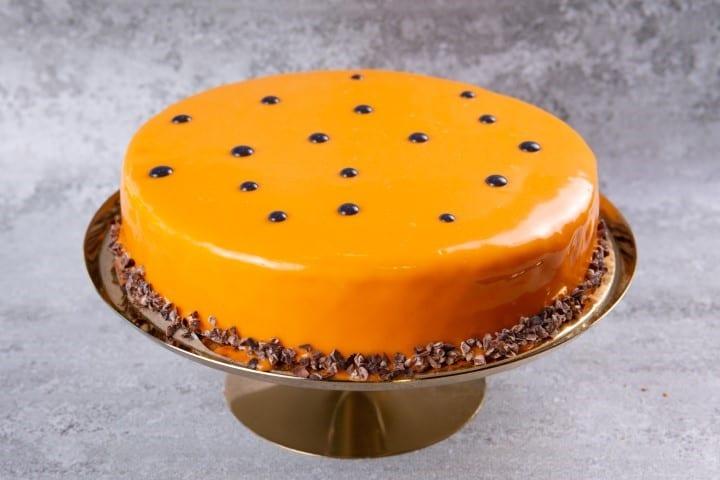 עוגת שוקולד פסיפלורה בסיס בראוניז אינסרט ג